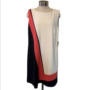 NWT tahari color block dress